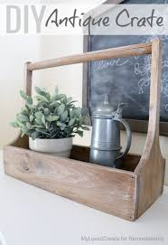 remodelaholic how to build a simple antique wood crate for under 10