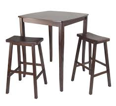 Pub Dining Room Set by Winsome 3pc Inglewood High Pub Dining Table With Saddle Stool By
