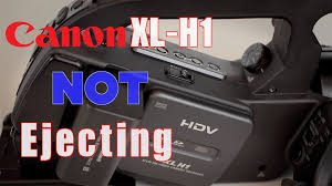 canon xl h1 repair will not eject the tape stuck tape youtube