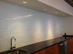 Glass Tile Kitchen Backsplash by Random Subway Linear Glass Tile Perfect For A Kitchen Backsplash