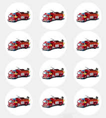 firefighter cupcake toppers 12 firetruck edible cupcake toppers everything else