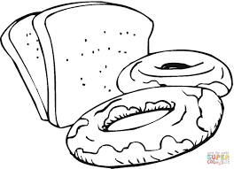 slices of bread and sweets coloring page supercoloring com