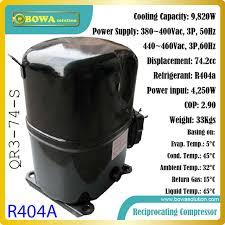 moteur chambre froide 3tr capacité de refroidissement 3 phase r404a alternatif