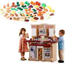 Step Two Play Kitchen by Step 2 Party Time Kitchen Play Set U0026 Play Food Value Bundle