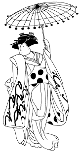 geisha with umbrella tattoo design tattoos book 65 000 tattoos