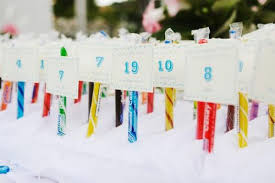 Wedding Table Numbers Ideas Unique Wedding Table Number Ideas