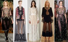 pre fall 2017 trends see through dresses