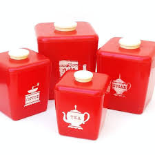 vintage retro kitchen canisters retro canisters 50s kitchen canister set tea by whimzythyme
