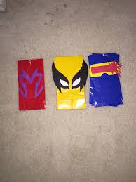 party city halloween treat bags x men party favor bags magneto wolverine u0026 cyclops my diys