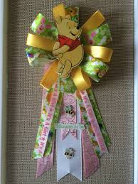 winnie the pooh inspired baby shower corsage pin mommy to be by