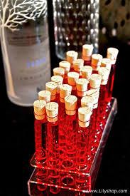halloween dish towels creepy test tube vodka shots via lilyshop blog by jessie jane