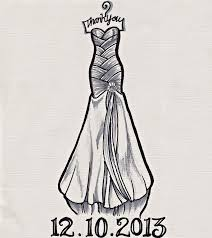 drawn wedding dress long dress pencil and in color drawn wedding