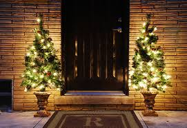 pre lit entryway tree sharper image