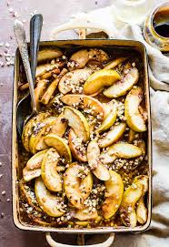 caramelized apple cider fruit bake paleo friendly cotter