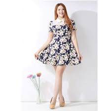 high quality plus size floral dress