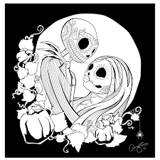 bunch ideas of free printable nightmare christmas coloring pages