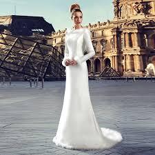 christmas wedding dresses aliexpress buy modest warm fur winter wedding dress