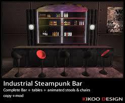 Steampunk Bar Stools Second Life Marketplace Industrial Steampunk Bar Club Bar
