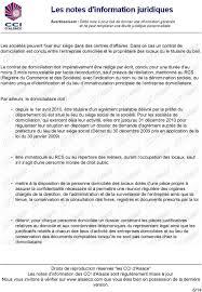 autorisation domiciliation si e social domiciliation des entreprises et exercice de l activite chez soi pdf