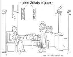 saint catherine siena catholic coloring 578212 coloring pages