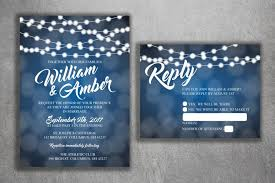 Cheap Wedding Invitations Blue And White Lights Wedding Invitations Set Printed Cheap