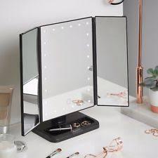 tri fold mirror with lights lighted make up mirror ebay