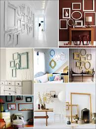 creative home decorations empty frames as art unique home decor creative home pinterest