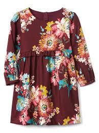 baby gap thanksgiving floral ruffle waist dress gap