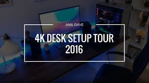 ultimate 4k video editing and gaming desk setup tour 2016 youtube
