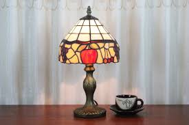 Traditional Table Lamps For Bedroom - tiffany style fruit mosaic table lamps for bedroom parrotuncle