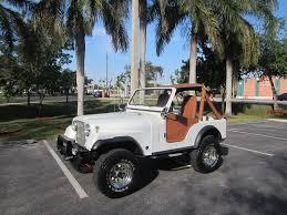 classic jeep cj 1977 jeep cj fully restored 4x4 6 cyl lifted pearl white clean fl