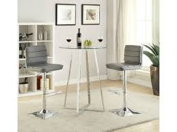 high table and chair set coaster 100026 glass modern 3pc bar table set with and chair ideas