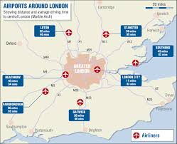 london airport map london map