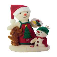 2015 time for cookies plush tabletopper snowman plush and ornament