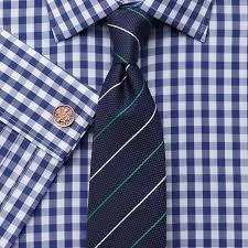 charles tyrwhitt classic fit non iron gingham navy shirt where