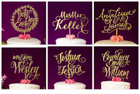 gold wedding cake topper gold wedding cake topper real wood luxe colors and glitter gold