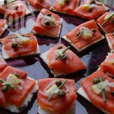 cuisine canapé smoked salmon canapés recipe all recipes uk