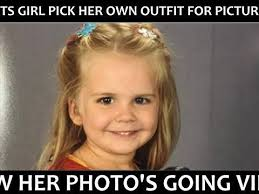Little Girl Face Meme - three year old girl picks out her own outfit for picture day and