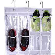 24pockets hanging shoe bag organizer holder storage room door back