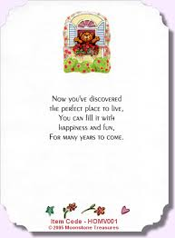 new home card verses by moonstone treasures