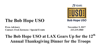 the bob uso at lax gears up for the 12th annual thanksgiving