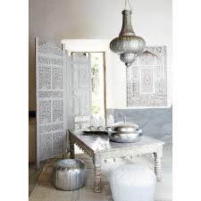 interior silver furniture moroccan marokkaanse poef in silver and white moroccan decor