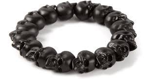 black bead skull bracelet images Lyst alexander mcqueen skull bead bracelet in black jpeg