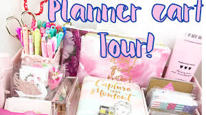 Raskog Cart Pink Ikea Raskog Cart Tour 2017 Planner Supplies Youtube