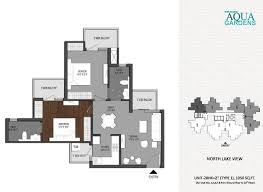 Garden Floor Plan by Shri Radha Aqua Garden Noida Extension Shri Radha Aqua Garden