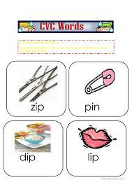 Printable Cvc Worksheets Cvc Words Flashcards 4 Worksheet Free Esl Printable Worksheets