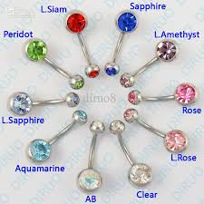 crystal belly rings images 2018 wholesale body piercing jewelry crystal belly ring belly jpg