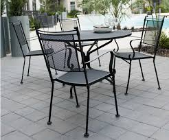 Wrought Iron Mesh Patio Furniture by Comfortable Outdoor Garden Wrought Iron Chair Metal Mesh Cafe