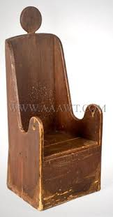 Childs Antique Chair Vintage Wooden Potty Chair With Tray And Removable Seat By