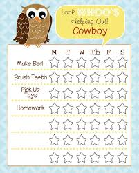 free printable chore charts for kids fab n u0027 free